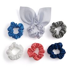 SO® Striped & Solid Patterned Scrunchie Hair Tie Set