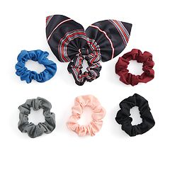 SO® Multi Colored & Striped Pattern Scrunchie Hair Tie Set