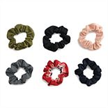 SO® Multi Colored Scrunchie Hair Tie Set