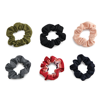 SO® Multi Colored Scrunchie Hair Tie Set