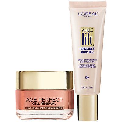 L'Oréal Paris Rosy Tone Moisturizer and Visible Lift Skincare Kit