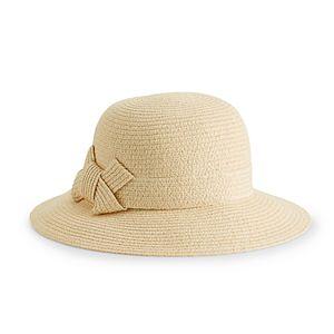 0272ec8963eb9 Women s LC Lauren Conrad Bow-Back Face Framer Cloche Hat. (1). Sale