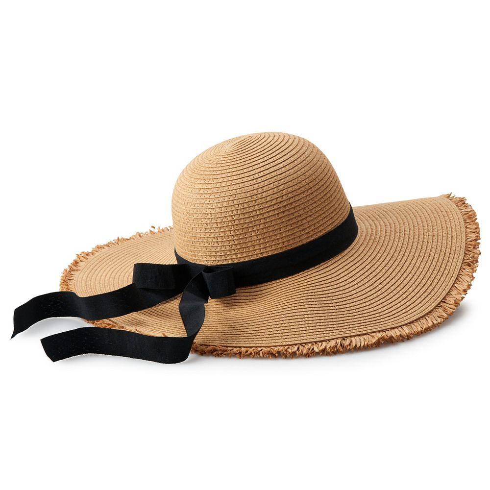 Women's LC Lauren Conrad Frayed Edge Floppy Hat
