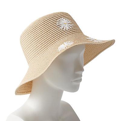 Women's LC Lauren Conrad Flower-Embroidered Cloche Hat