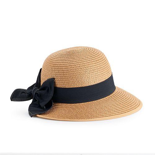31424803e4542 Women s LC Lauren Conrad Bow-Back Face Framer Cloche Hat