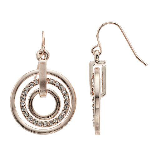 Concentric Hoop Drop Earrings
