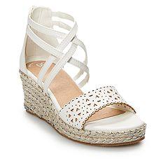 SO® Excursion Girls' Espadrille Wedge Sandals