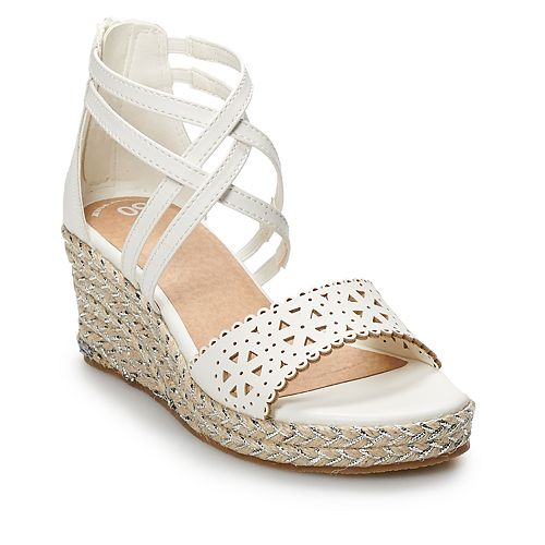 SO® Excursion Girls' Espadrille Wedge Sandals