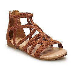 SO® Girls' Gladiator Sandals