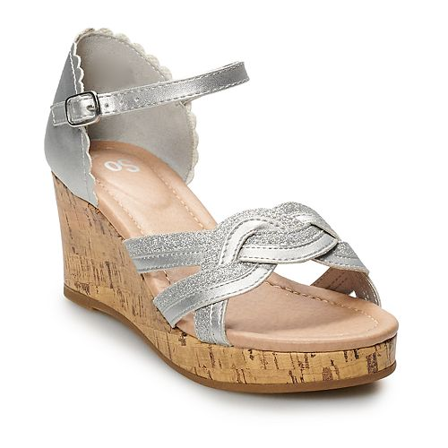SO® Coconut Girls' Wedge Sandals