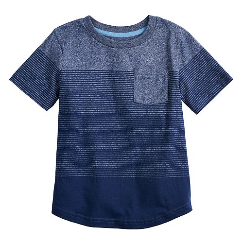 Boys 4-12 SONOMA Goods for Life® Ombre Striped Pocket Tee