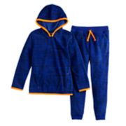 Boys 4-12 Jumping Beans® Microfleece Space Dyed Hoodie & Jogger Pants Set