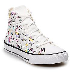 acea522c055 Girls  Converse Chuck Taylor All Star Unicorn Rainbow High Top Shoes