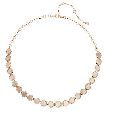 Simulated Crystal Pave Disc Necklace