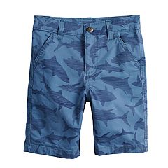 Boys 4-12 SONOMA Goods for Life™ Sharks Flat Front Shorts