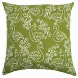 Rizzy Home Charlotte Peacocks Pillow