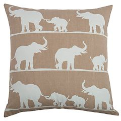 Rizzy Home Catherine Elephants Pillow