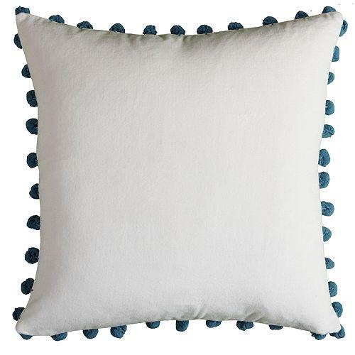 Rizzy Home Cynthia Poms Pillow