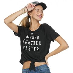 Juniors' Captain Marvel 'Higher Further Faster' Graphic Tee