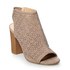 d6780501b08 LC Lauren Conrad Hazelnut Women s High Heel Ankle Boots