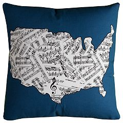 Rizzy Home Caitlyn Map Pillow