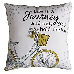Rizzy Home Carmen Bicycle Pillow