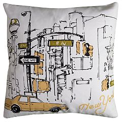 Rizzy Home Chastity NY Taxi Pillow