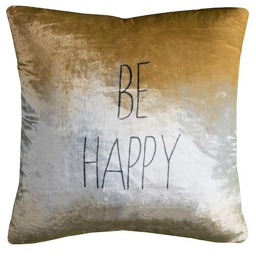 Rizzy Home Clara Behappy Pillow