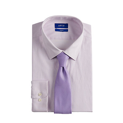 Men's Apt. 9® Extra-Slim Fit Dress Shirt & Tie Set