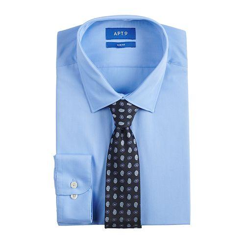 Men's Apt. 9® Extra-Slim Fit Dress Shirt & Tie Set