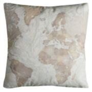 Rizzy Home Cara World Map Pillow