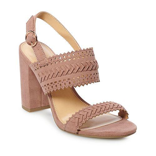 Lauren Conrad Pie Crust High Heel Sandals, Gray, 7.5 | eBay