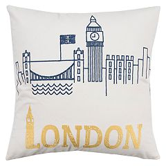 Rizzy Home Camila London Pillow
