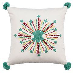 Rizzy Home Callie Flower Medallion Pillow