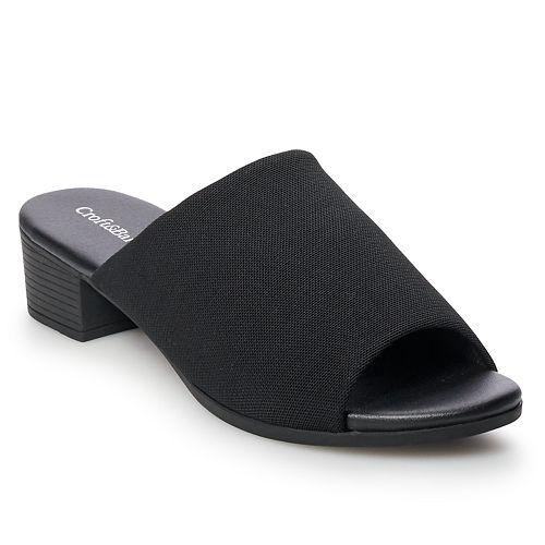 Croft & Barrow® Kiosk Women's Ortholite Stretch Fabric Slide Sandals