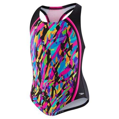 9c412e4ff013e Girls 7-16 Speedo Printed Sport Splice One-Piece Swimsuit