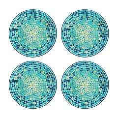 Celebrate Summer Together 4-pc. Cool Mosaic Salad Plate Set