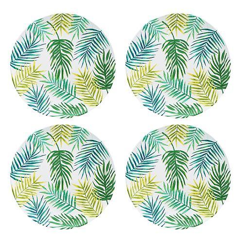 Celebrate Summer Together 4-pc. Palm Salad Plate Set