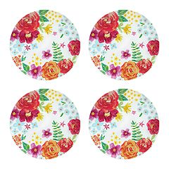 Celebrate Summer Together 4-pc. Floral Dinner Plate