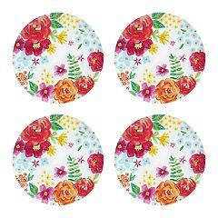 Celebrate Summer Together 4-pc. Floral Dinner Plate