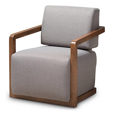 Baxton Studio Gray Mid-Century Armchair