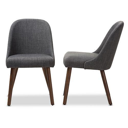Baxton Studio Mid-Century Dining Chair 2-piece Set