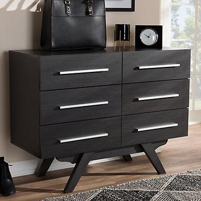 Baxton Studio Mid-Century 6-Drawer Dresser