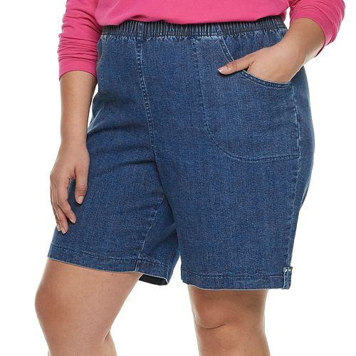 Plus Size Croft & Barrow® Pull-On Shorts