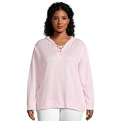 Plus Size Just My Size Lace-Up French Terry Hoodie