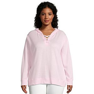 b7f630e613b Regular.  48.00. Plus Size Just My Size Lace-Up French Terry Hoodie