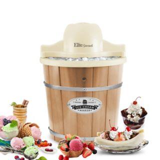 Elite Gourmet 4-qt. Old-Fashioned Ice Cream Freezer