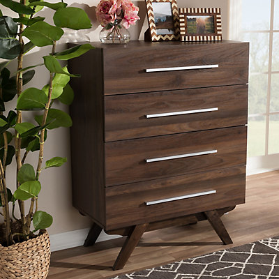 Baxton Studio Mid-Century 4-Drawer Chest