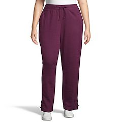 Plus Size Just My Size Plus French Terry Lace-Up Jogger Pants