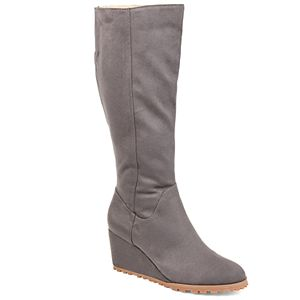 Journee Collection Parker Women's Knee High Wedge Boots